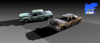 3d model wreak car
