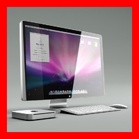 Apple Cinema Display with Mac Mini