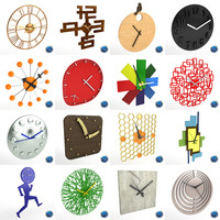 wall clocks obj