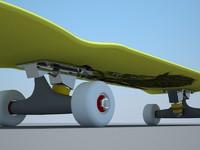 skateboard deck 3d max