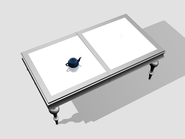 mobil fresno table 3d model - Table Mobil Fresno... by T.Smith