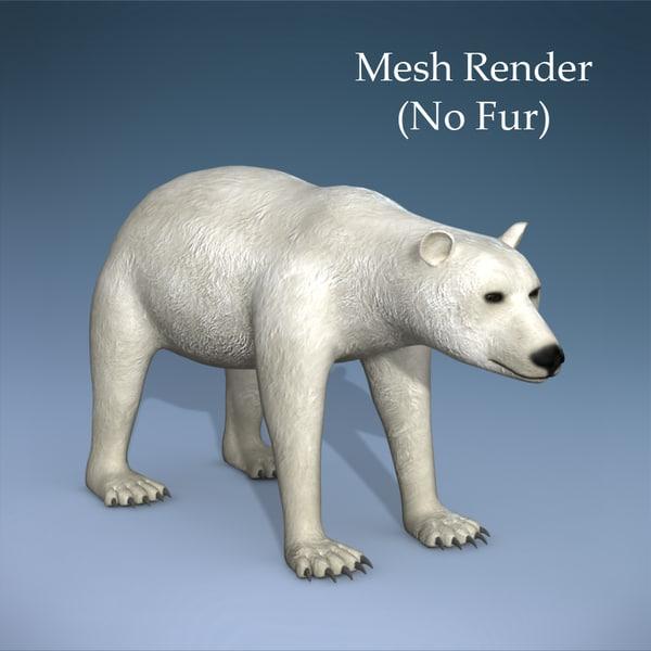 Polar bear without fur - photo#12