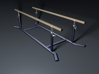 3d model parallel bars gym