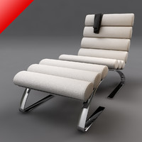sinus lounge chair ottoman 3d model
