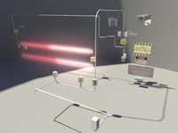 laser security - 3d obj