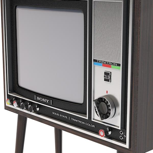 3d Model Sony Trinitron Kv