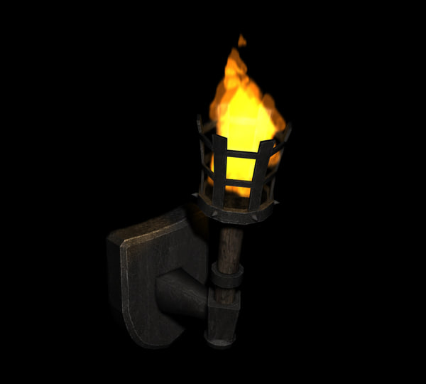 Wall Lamps 3d Model Free : max medieval torch