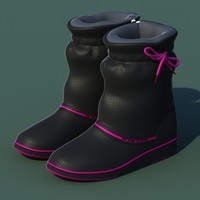 3d women winter shoes 01