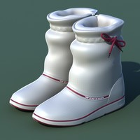 3d model excellent winter shoes 01