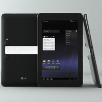 3d lg optimus pad tablet model