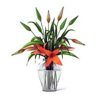 flower lilies 3d max