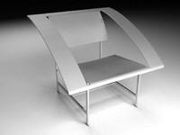 3d modern armchair