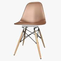 free wood chair 3d model