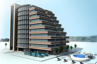 realistic building 3d max