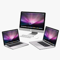 apple imac macbook 3d 3ds