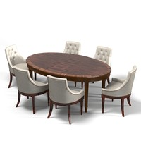 galimberti nino oval dining table tufted chair art deco set
