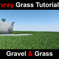 Vray Gravel and Grass