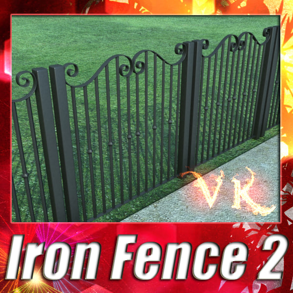 Iron Fence 02 - High Resolution Textures