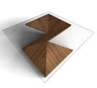 Modern coffee table - Origami