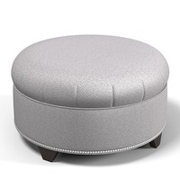 pouf banquette traditional 3d model