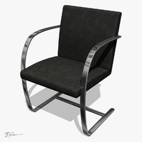 brno chair flat bar mies van der rohe 1930