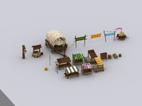 3d marketplace festival model