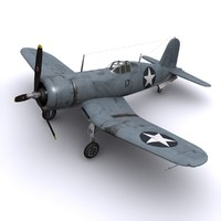 3ds max f4u corsair fighters vmf