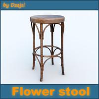 3d model flower stool