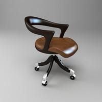 3d model of marlowe ceccotti collezioni chair