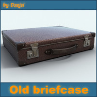 maya old small briefcase