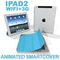apple ipad 2 smartcover 3d model