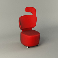free canta occasional chair 3d model