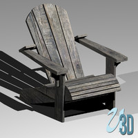 Weathered Adirondack Chair