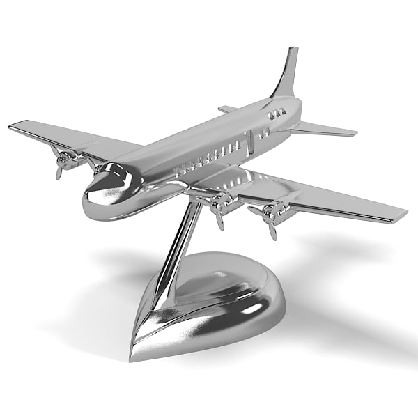 Airplane dc9 eichholtz table accessory table accessories art modern chrome plane conemporary home decor on base.jpg