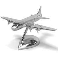 Airplane dc9 eichholtz table accessory table accessories art modern chrome conemporary home decor