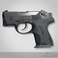 3d beretta handgun model