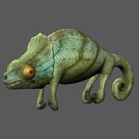 3d model chameleon lizard
