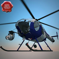 3ds max helicopter md 520n police