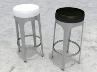 3ds max bar stool lapalma leo