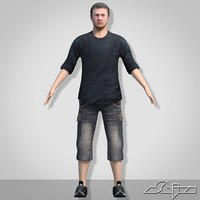 male man boy 3d model