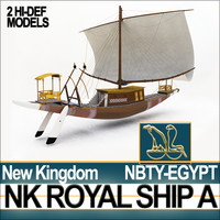 Ancient Egyptian Pharaoh Royal Ship New Kingdom