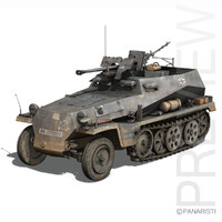 SD.KFZ 250/11 - Half-track with 2,8cm sPzB 41 heavy anti-tank rifle.