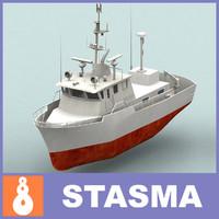 sea ship 3d model