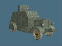 3d wwi tank model