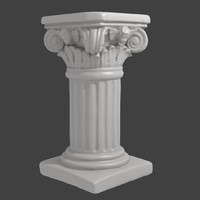 3ds max accurate scan decorative column
