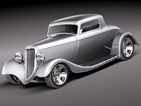 1934 fender coupe hotrod 3ds