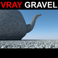 3d displaced gravel model