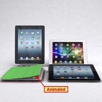 apple ipad 3 4 3d model