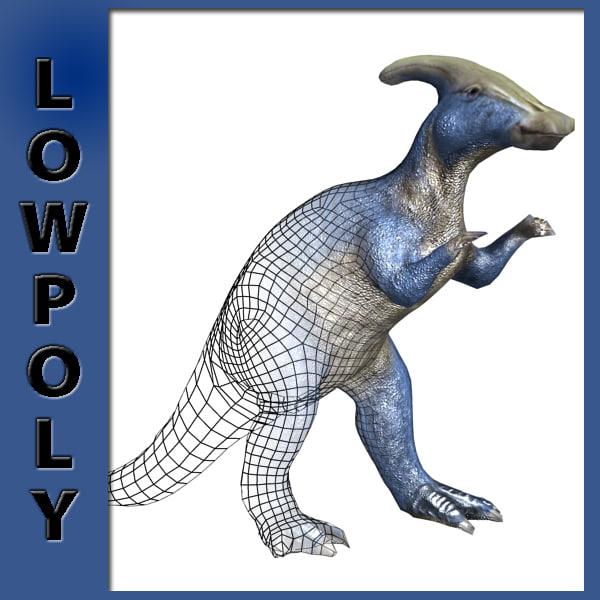 Parasaurophus Low Poly