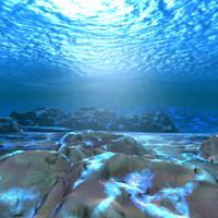 maya underwater scene